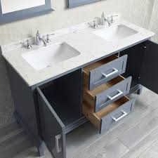 ace 60 inch double sink whale grey bathroom vanity set with mirror