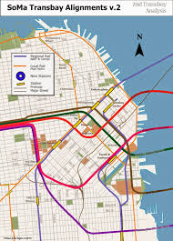 San Francisco Bart Map Regional Rail For The Sf Bay Area Two New Transbay Crossings