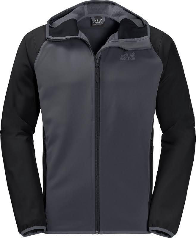 Jack Wolfskin Zenon Softshell Jacket Men Ebony Extra Large 1305132-6230005