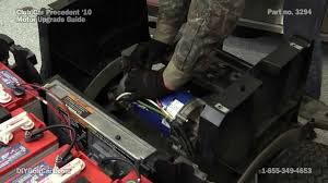 club car precedent high speed motor upgrade how to install on