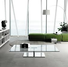 modern wood and glass coffee table grey fabric sofa round contemporary glass cerca coffee table white
