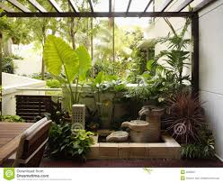 Indoor Balcony Interior Design Garden Royalty Free Stock Photography Image