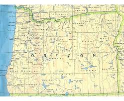 Maps Oregon by Large Detailed Map Of Oregon State Oregon State Usa Maps Of