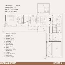 Houses With 2 Master Bedrooms House 11 U2013 The Usonian House Jody Brown Architecture Pllc