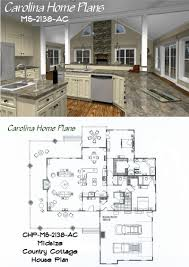midsize country cottage house plan with open floor plan layout house