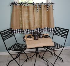 Custom Made Kitchen Curtains by Burlap And Gingham Cafe Curtains Need To Make Some For My