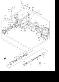 2008 suzuki king quad 450 lt a450x final bevel gear rear parts