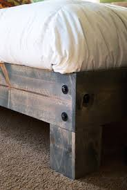 Make A Platform Bed With Storage by Diy Platform Bed U0026 Salvaged Door Headboard Part Three Averie