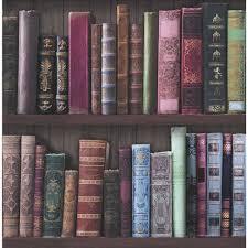 fresco wallpaper bookcases multicoloured wallpaper wallpaper