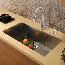 Kitchen Sink With Faucet Set Vigo 30 Inch Undermount Single Bowl 16 Gauge Stainless Steel