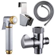 kes toilet handheld bidet sprayer with t adapter valve hose and
