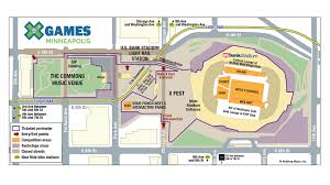 Chicago Parking Map by X Games Minneapolis 2017 Venue Hours Parking And Transportation