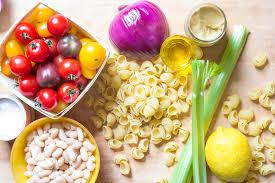 Pasta Salad Ingredients Pasta And Bean Picnic Salad Recipe Simplyrecipes Com