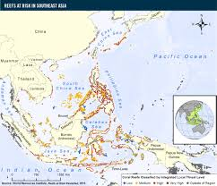 Southeast Map Reefs At Risk In Southeast Asia World Resources Institute