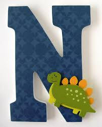 custom decorated wooden letters dinosaur theme nursery bedroom