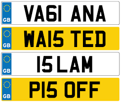 It has barred drivers from taking to Britain     s roads in a vehicle carrying personalised plates spelling out rude words or potentially offensive messages  The Telegraph