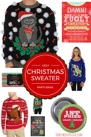 ugly christmas sweater party ideas u0026 invitations