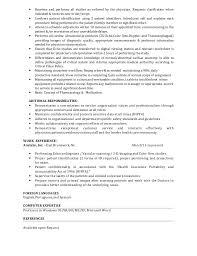 Computer Technician Resume Sample by Resume Job Objective Best Resume Sample Amazing Electronics
