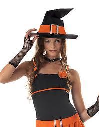Teen Witch Halloween Costume Sassy Witch Orange Dress Mesh Skirt Teen Girls Halloween
