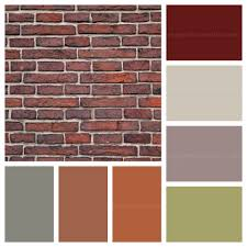 house paint colors that go with red brick the dominant colours