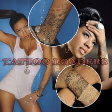 Keyshia Cole Rose Wrist Tattoo Designs