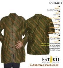 BUTIK BATIK -Butik Berbagai Jenis Batik yang Sederhana Bersahaja, aseli Pekalongan Indonesia. - sarimbit%20seno%20kecil