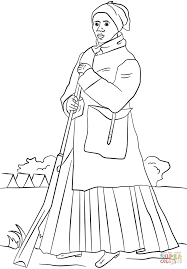 harriet tubman coloring page free printable coloring pages