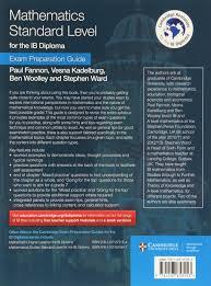 mathematics standard level for the ib diploma exam preparation