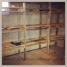 Simple Free Standing Shelf Plans by Best 25 Pallet Shelves Ideas On Pinterest Pallet Shelving