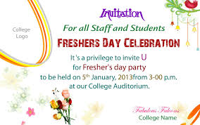 Invite Cards Freshers Party Invitation Matter For All Teachers Freshers Party