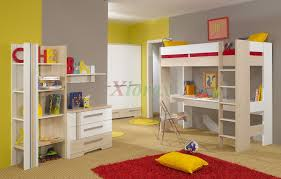 bedrooms for girls with bunk beds bedroom colorful loft beds for teens with study area and red carpet