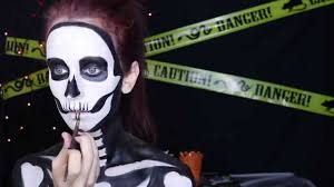 neon glow in the dark skeleton makeup tutorial spirit halloween