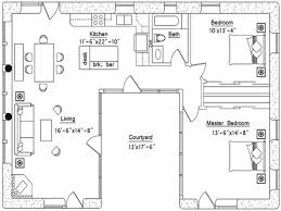 small house plans with courtyards