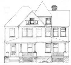 House Architectural Interesting Architecture House Drawing Gorgeous For Inspiration