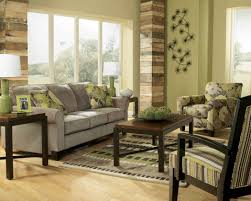 Living Room Design Ideas With Grey Sofa Earth Tone Living Room With Green Wall Paint And Gray Sofa For