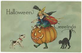 rare vintage fairman pink perfection halloween postcard series
