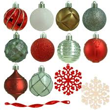 The Home Depot Christmas Decorations Martha Stewart Living 2 3 In Winter Tidings Shatter Resistant