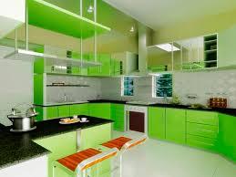 Mini Kitchen Cabinet Kitchen Futuristic Green Kitchen Walls With Glossy Panels And