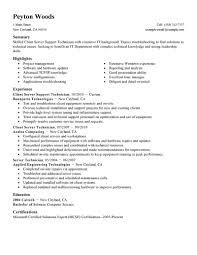 Job Duties On Resume by Best Client Server Technician Resume Example Livecareer
