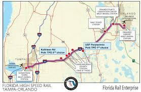 Map Of Downtown Disney Orlando by Florida High Speed Corridor Wikipedia