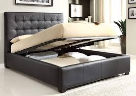 King Size Platform Bed Designs by Bedroom Elegant Black Leatherette Upholstery Storage Bed