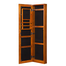 furniture wall mounted full length mirror jewelry armoire in