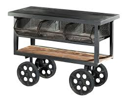 Kitchen Carts On Wheels by Kitchen Black Iron Rolling Kitchen Cart With Shelf And Storage