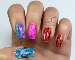 alcohol ink gradient marble nail art u0026 tutorial lucy u0027s stash