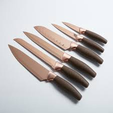 titanium coated knife set 7 piece new england cutlery touch