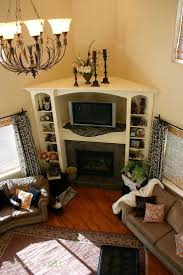 solution for corner fireplace built in bookcase and entertainment