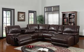 leather sectional sofa recliner enchanting brown leather sectional sofa soft brown leather