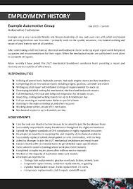 auto tech resume automotive mechanic resume occupational examples       it technician resume