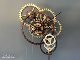 Free Wooden Clock Plans Dxf by Zybach A Mechanical Clock