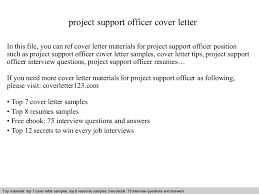 Project Management Cover Letter  cover letter sample project